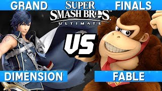 Smash Ultimate Tournament Grand Finals - Fable (Donkey Kong) vs Dimension (Chrom) - S@LT 168