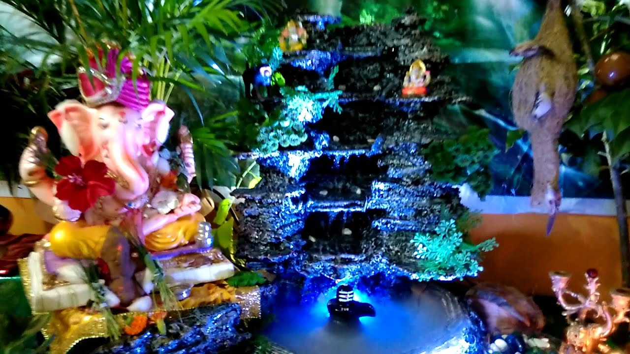 Our Home Ganesha Decoration Youtube