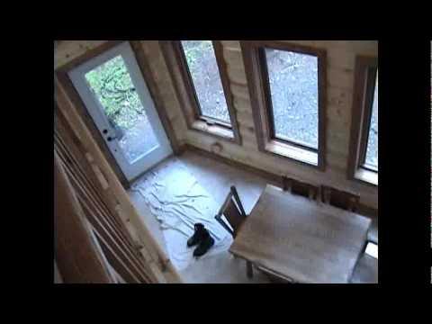 Maison en bois demi rond partie 2 youtube for Maison en bois ronde