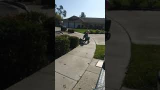 Little girl fails riding a tractor