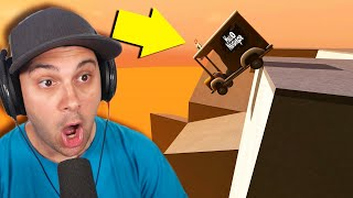 So I Drove Hello Neighbor Off A MASSIVE MOUNTAIN! (so much pain...) | Turbo Dismount