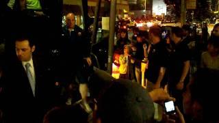 Fc barcelona arrives at intercontinental hotel in san francisco