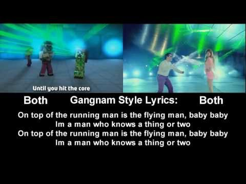 PSY - Gagnam Style(강남스타일) VS. Minecraft Style (Lyrics and Side By Side Viewer)