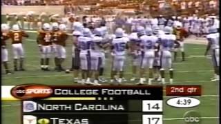 """From september 8, 2001. the broadcast was cut off """"for a more compelling game"""" before cole pittman tribute score, but abc saw fit to mention it in brea..."""