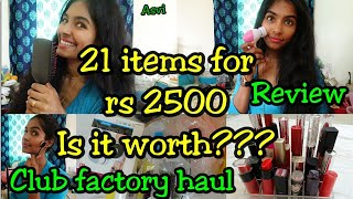 Club factory haul|Review|Must buy products from club factory|21products for 2500|worth or not|Asvi