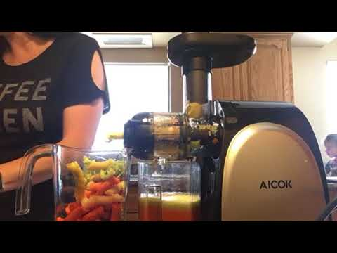 Aicok Slow Masticating Juicer How To And Review | Slow Masticating Juicer