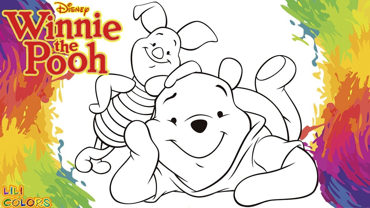 Colorindo Ursinho Pooh E Seu Amigo Leitao Desenho Infantil Para