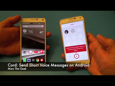 Cord: Send Short Voice Messages On Android