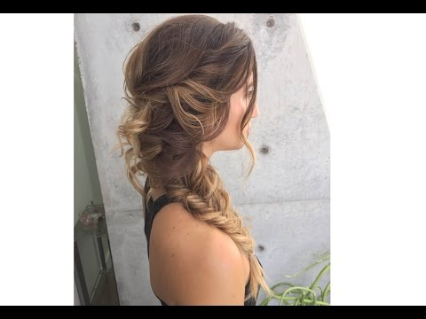 Romantic Fishtail Upstyle Inpired By @hairbyelena