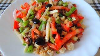 Салат с чечевицей, брокколи, стручковой фасолью. Salad with lentils.