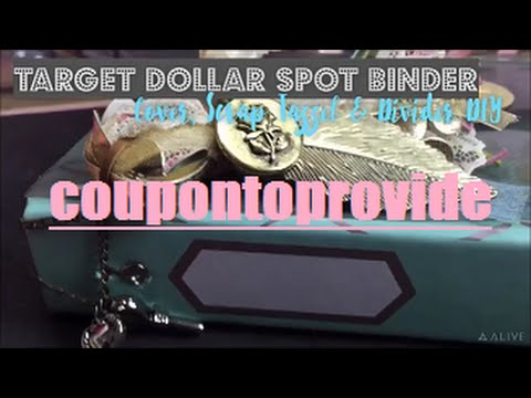 Target Dollar Spot Tutorial | Flexible Planner Cover Wrap Protector and Scrap Tassel