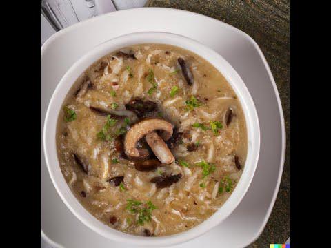 Mushroom Orzo Soup by Chef John Guinivere