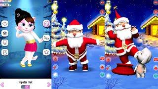 My Talking Angela Vs Talking Santan Claus || Great Makeover - Gameplay HD