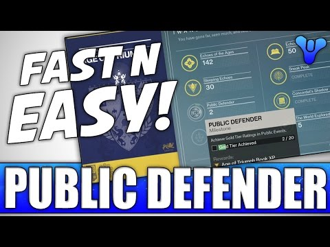 Destiny: EASY WAY! - How To Do Public Defender Age Of Triumph Book Challenge