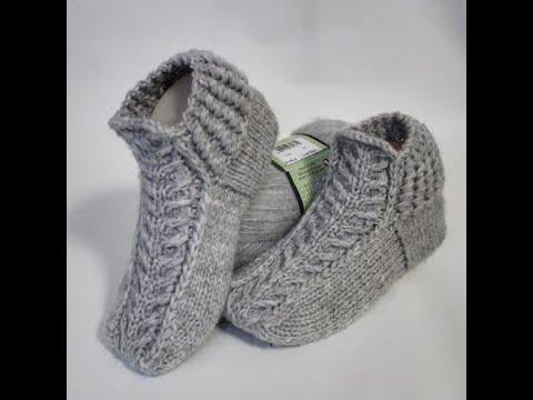 Вязание носков и тапочек видео спицами