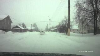 Сухиничи после снегопада 24.03.2013