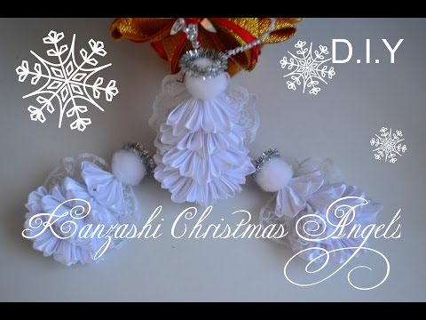 Ролик Kanzashi Christmas Angels/Заколки и игрушка на елку