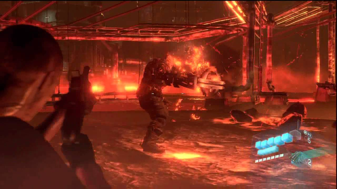 Resident Evil 6 Jake Campaign Chapter 5 Ustanak Boss Fight First