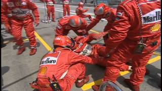 Michael Schumacher Pit Lane Incident Spanish GP 2000