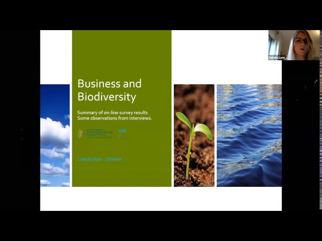 WATCH: Recording & Slides from Business & Biodiversity Webinar