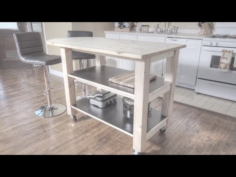 How to build a kitchen island on wheels youtube for How to create a kitchen