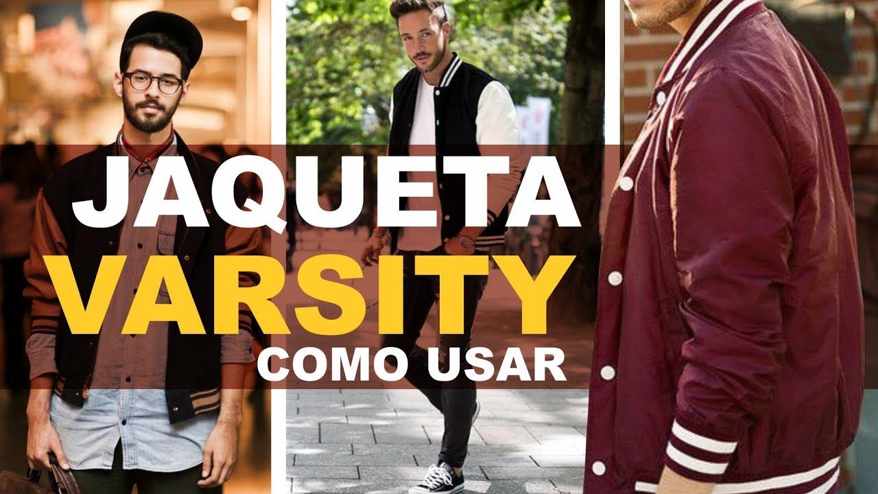 accc6631b9 Jaqueta masculina VARSITY como usar - YouTube