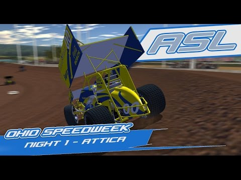 rFactor: Ohio Speedweek - Night 1 (410 Sprintcars @ Attica Raceway)