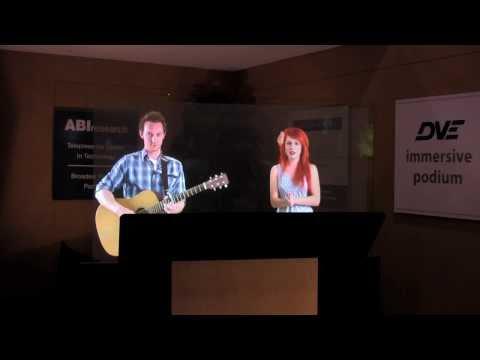 Coolest Telepresence! Live Hologram Singers