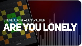 Playing Are You Lonely Steve Aoki &amp Alan Walker on SUPER PADS LIGHTS - KIT LONE