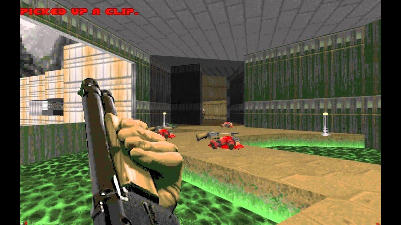 Doom E1M1 UV 4K HD 4096x2560 52 Seconds in ZDoom