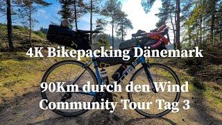 Bikepacking Tour Dänemark #3, Deutsch 4K || Es geht durch den Gegenwind