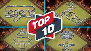 New Top 10 Fun Base / Troll Base Layouts + Link (clash of clans TH 13)