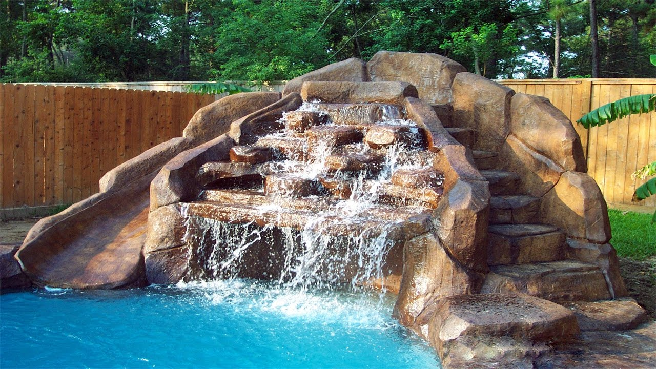 Swimming Pool Designs With Waterfalls Pool Designs With Waterfalls ᴴᴰ ·▭· · ··· Diy Backyard