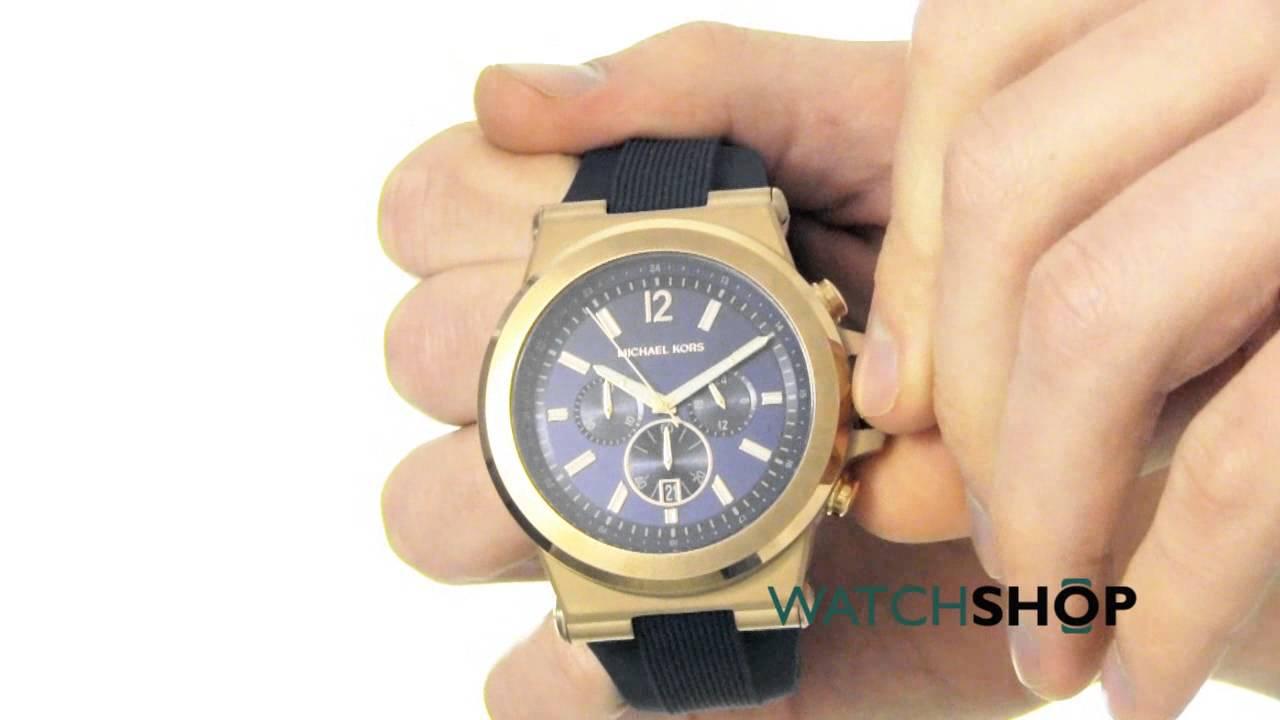 30867a5ab7b5 Michael Kors Men s Dylan Chronograph Watch (MK8295) - YouTube