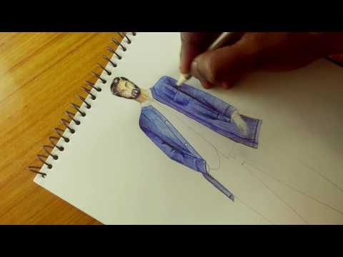DENIM MENSWEAR PARKA~ ZARA | FASHION ILLUSTRATION