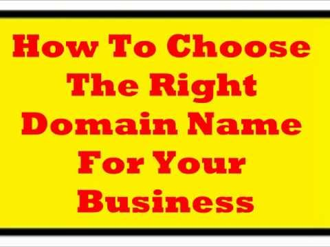How Pick A Domain Name That Saves You Work