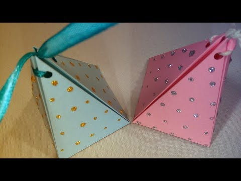 DIY Gift Box: How to make a Pyramid Gift Box