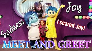 Meet Joy and Sadness from Inside Out with us!