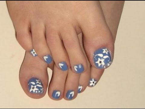nail art quick and easy toenail art design  youtube