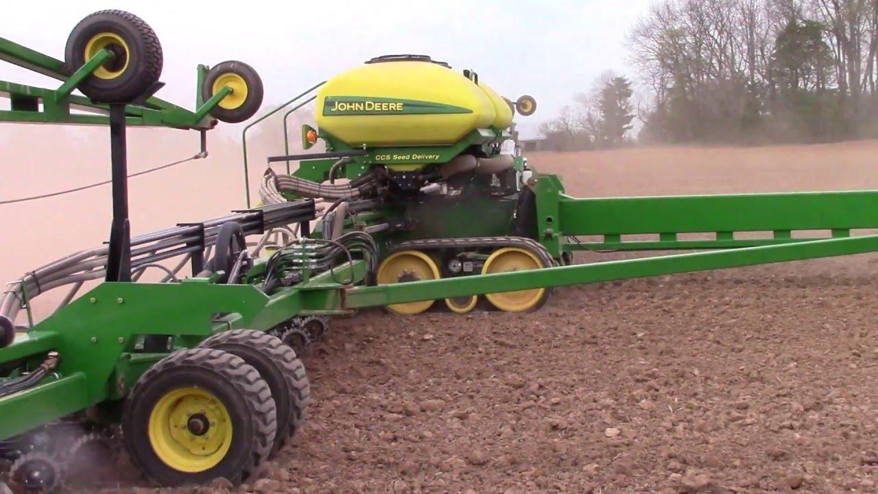 John Deere Db90 36 Row Corn Planter On Tracks Youtube