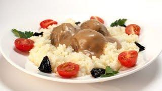 Фрикадельки с рисом и школьной подливой | Мясо. От филе до фарша