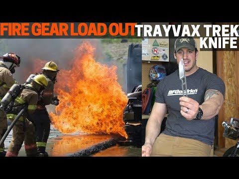 My FireFighter Gear Load Out + Trayvax Trek Knife Introduction
