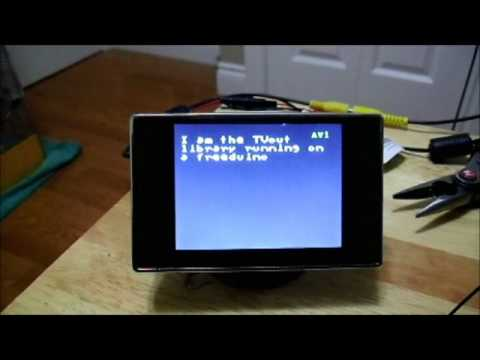 Display arduino output on tv for less than $1
