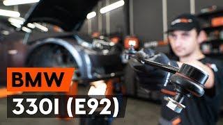 Come sostituire biellette barra stabilizzatrice anteriore su BMW 330i 3 (E92) [AUTODOC]