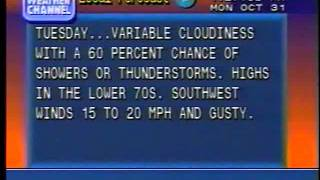 Weather Channel Local Forecast October 31, 1994