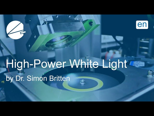 From Blue Laser to High Power White Light EN