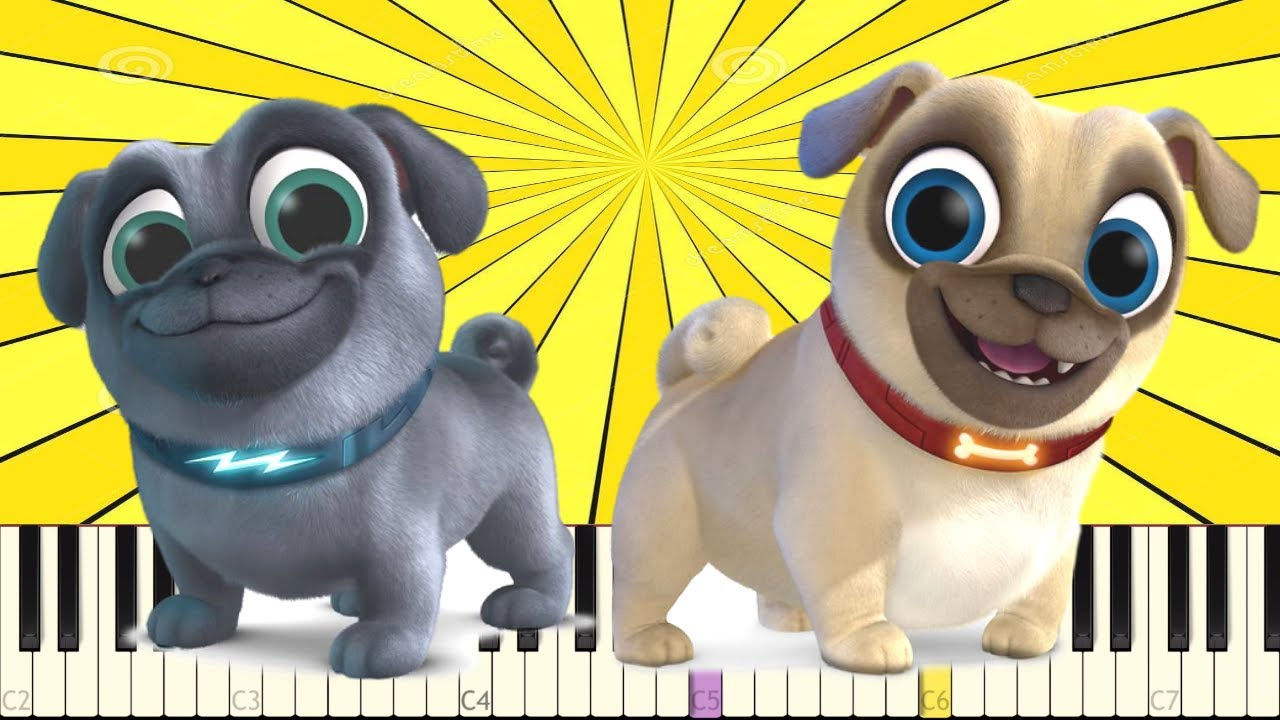 Impossible Remix Puppy Dog Pals Theme Song Bingo And Rolly Piano Cover Youtube