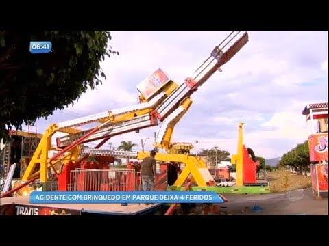 Acidente em parque de diversão deixa quatro pessoas feridas
