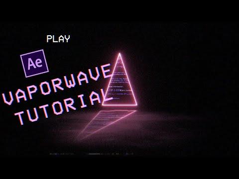 PINKAS Vaporwave/Lofi After Effects tutorial