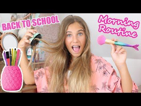School Morning Routine   GRWM   Rosie McClelland